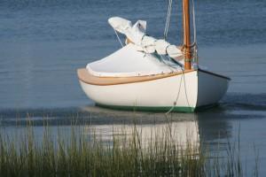Catboat in Harbor